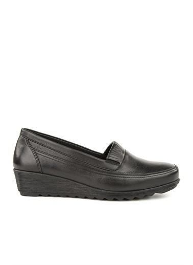 Muya Stella Anatomik Taban Kolay Giyim Hakiki Deri Kadın Ayakkabı Siyah